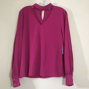 CeCe Womens Top blouse long sleeve size Small